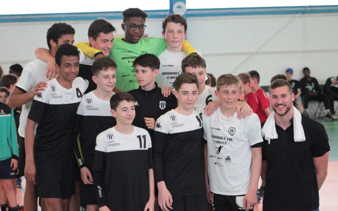 Les moins de 14 ans départementaux au tournoi régional du Handball Club Nantais