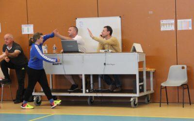 La commission arbitrage lors des demi-finales de coupe et challenge de l'Anjou
